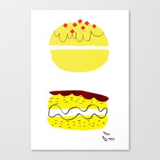 donut vs eclaire Canvas Print
