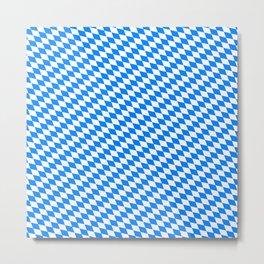Bavarian Blue and White Diamond Flag Pattern Metal Print