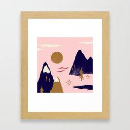Mountain Scape Framed Art Print
