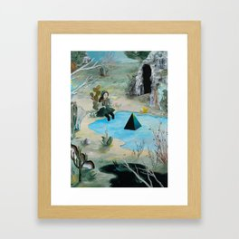 Cave Witch Framed Art Print
