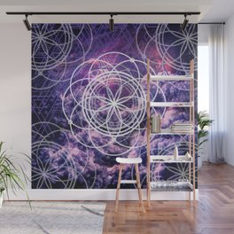 Symmetry in Purple Wall Mural