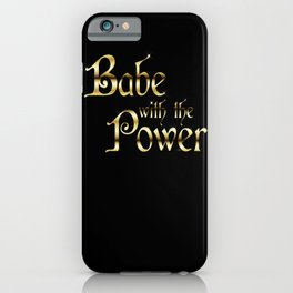 Labyrinth Babe With The Power (black bg) iPhone Case
