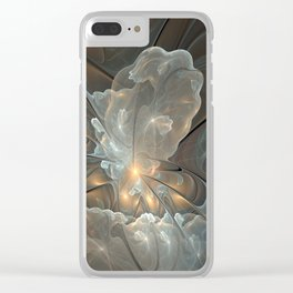 I had a dream, Abstract Fractal Art Clear iPhone Case