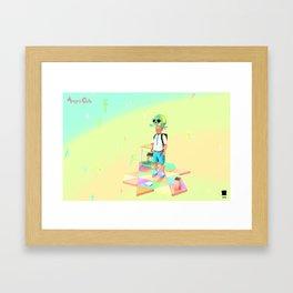 Angryocto - Joun's Math grade2 Framed Art Print