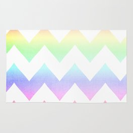 Watercolor Chevrons Rug