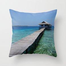 Secret house Throw Pillow