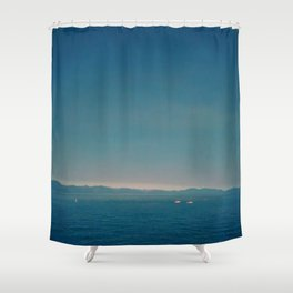 Kayaks and lakes Shower Curtain