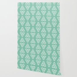 Green Celtic Knot: Trinity Knot Wallpaper