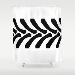 Tractor Tyre Tread Marks Shower Curtain