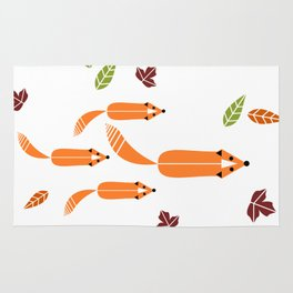 Foxes Hunting Rug