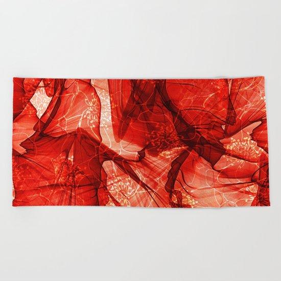 Poppy Veildance Beach Towel