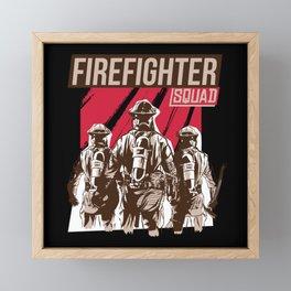 California Firefighter Squad Framed Mini Art Print