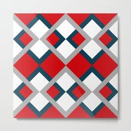 Rhombus pattern Metal Print