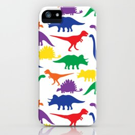Dinosaurs - White iPhone Case