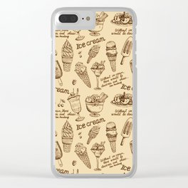 Ice cream vintage Clear iPhone Case