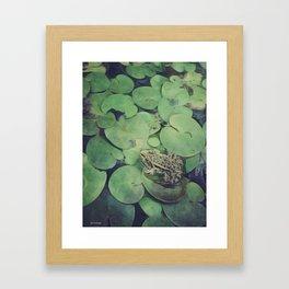 all green Framed Art Print