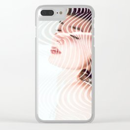 Ripple portrait Clear iPhone Case