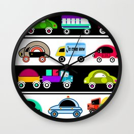 Children's cars, toys Wall Clock