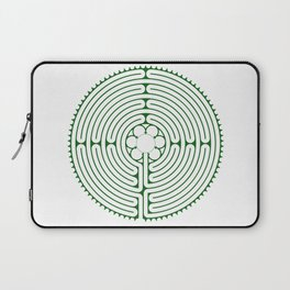 Cathedral of Our Lady of Chartres Labyrinth - Green Laptop Sleeve
