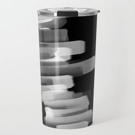 Stairs of Light - Black and White Travel Mug