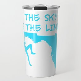 The Sky Is The Limit Climbing Girl Florida Map Mountains Gift Travel Mug