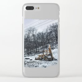 Snowy Digger Clear iPhone Case