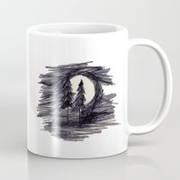 wolves Mugs featuring wolves by smeuq