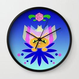 Orange Icon Wall Clock