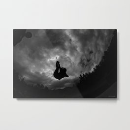 B&W Amazing Trampoline Photos----- DSLR Stunning Space Metal Print