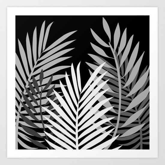TROPICAL PALM LEAVES 1 Art Print
