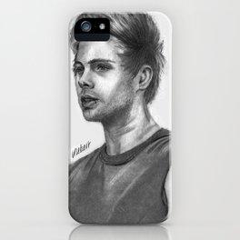 LH Pencil Portrait iPhone Case