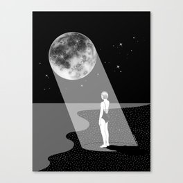The moon knows me Canvas Print