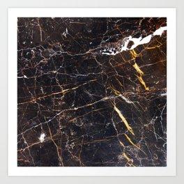 Golden Brown Granite Art Print