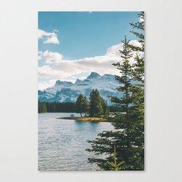 Two Jack Lake & Mt. Rundle Canvas Print