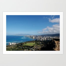 Diamond Head Coast Art Print