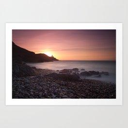 Dawn at Bracelet Bay Art Print