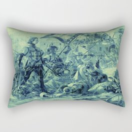 Portuguese history tile art Rectangular Pillow