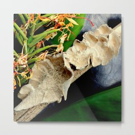 Frilly Fungus, Ginger On The Side Metal Print