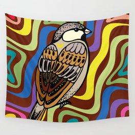Sparrow Bird Wall Tapestry