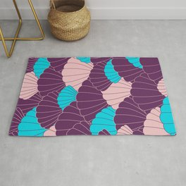 Scallop Abstract - Purple, Pink, Blue Rug