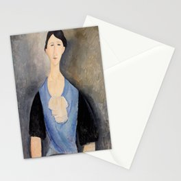 """Amedeo Modigliani """"Young Woman in Blue"""" Stationery Cards"""