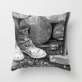 Manual Labor - Firewood 5 Throw Pillow