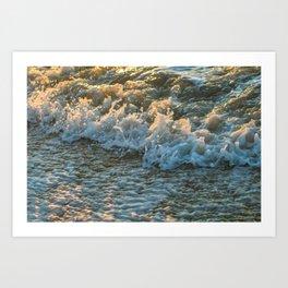 sunset foam Art Print