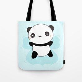 Kawaii Panda Snow Angel Tote Bag