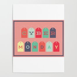 Cyber Monday Sale Time Poster