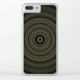 solar eclipse. visionary art. sacred geometry Clear iPhone Case