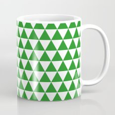Triangles (Forest Green/White) Mug