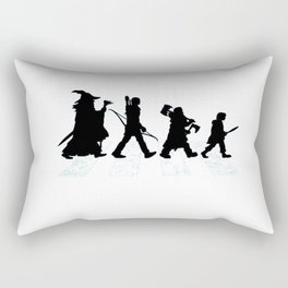 abbey road with hobbits Rectangular Pillow