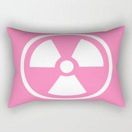 Pink Radioactive Symbol Rectangular Pillow