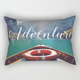Live the Adventure - Typography Rectangular Pillow
